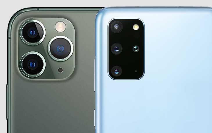 Galaxy S20 Plus und iPhone 11 Pro Kameras