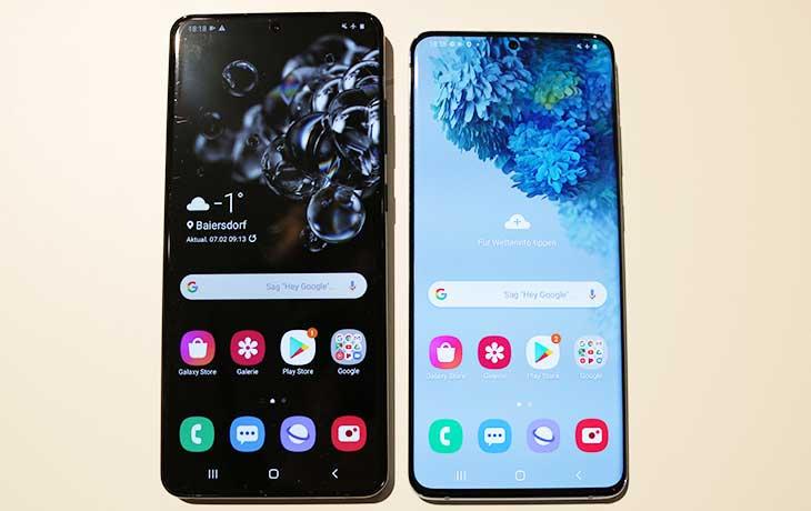 Galaxy S20 Ultra und Galaxy S20 Plus Front