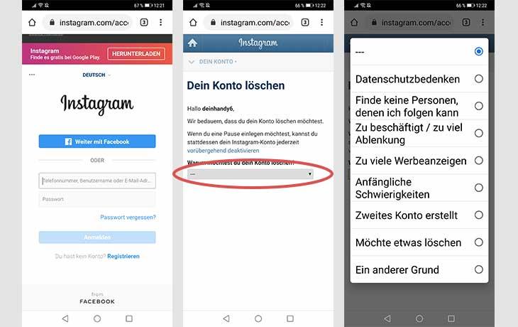 Instagram Profil löschen Screenshots 4