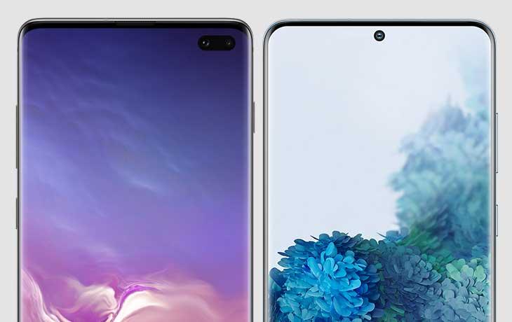 Display Galaxy S20 Plus und Galaxy S10 Plus