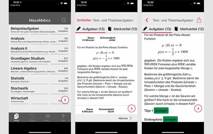 Mathe App für Studium & Abitur – die Vielseitige