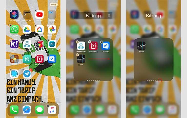 iPhone App Ordner