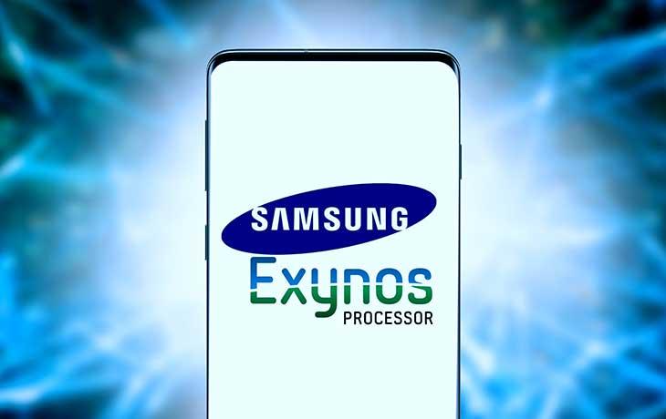Samsung Handy mit Exynos-Logo