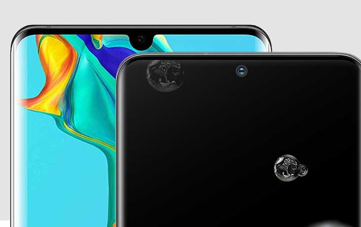 Display Galaxy S20 Ultra und Huawei P30 Pro