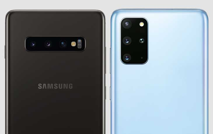 Kamera Galaxy S20 Plus und Galaxy S10 Plus