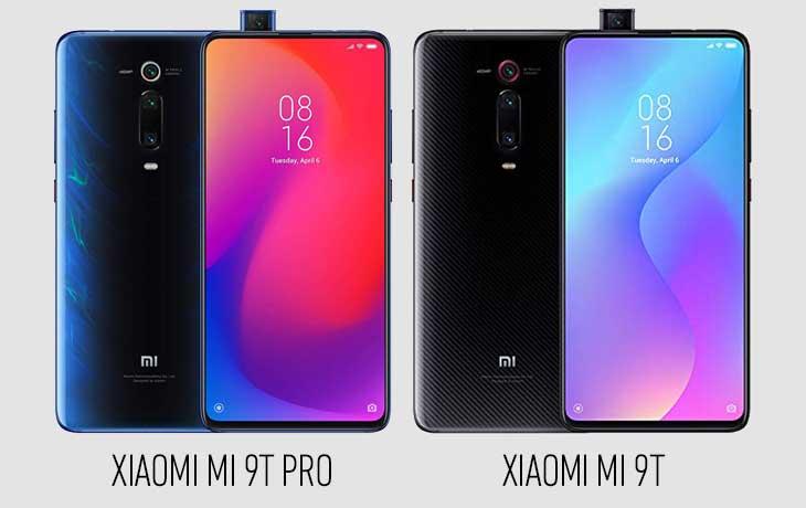 Xiaomi Mi 9T Pro und Xiaomi Mi 9T Vorder und Rückseite