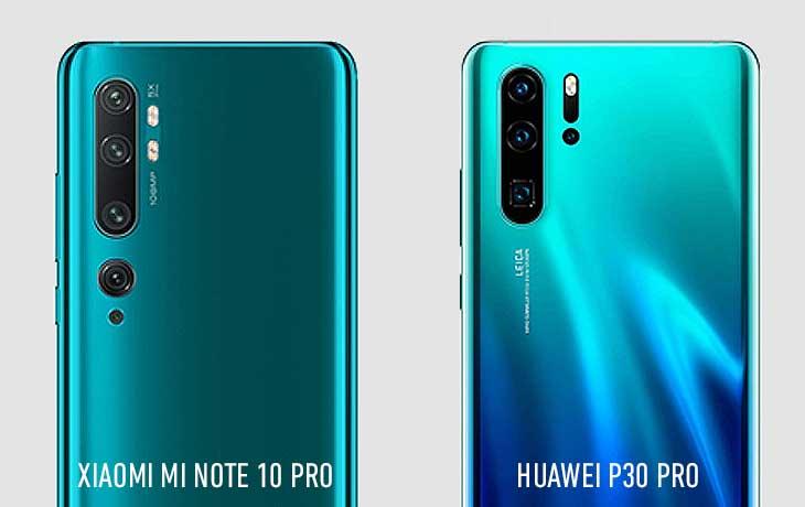 Xiaomi Mi Note 10 Pro und Huawei P30 Pro Kameravergleich
