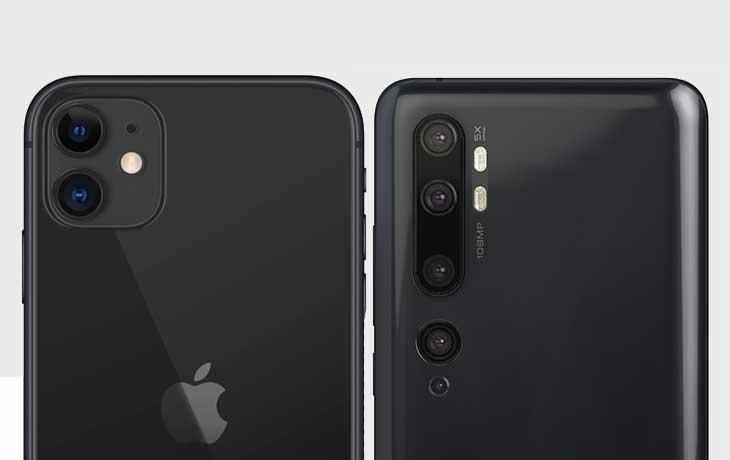 Xiaomi Mi Note 10 und iPhone 11 Kameravergleich