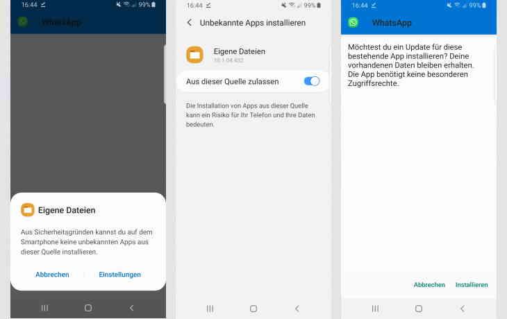 Alte WhatsApp-Version wiederherstellen - So funktionierts