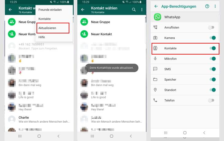 Whatsapp status freunde nicht sichtbar