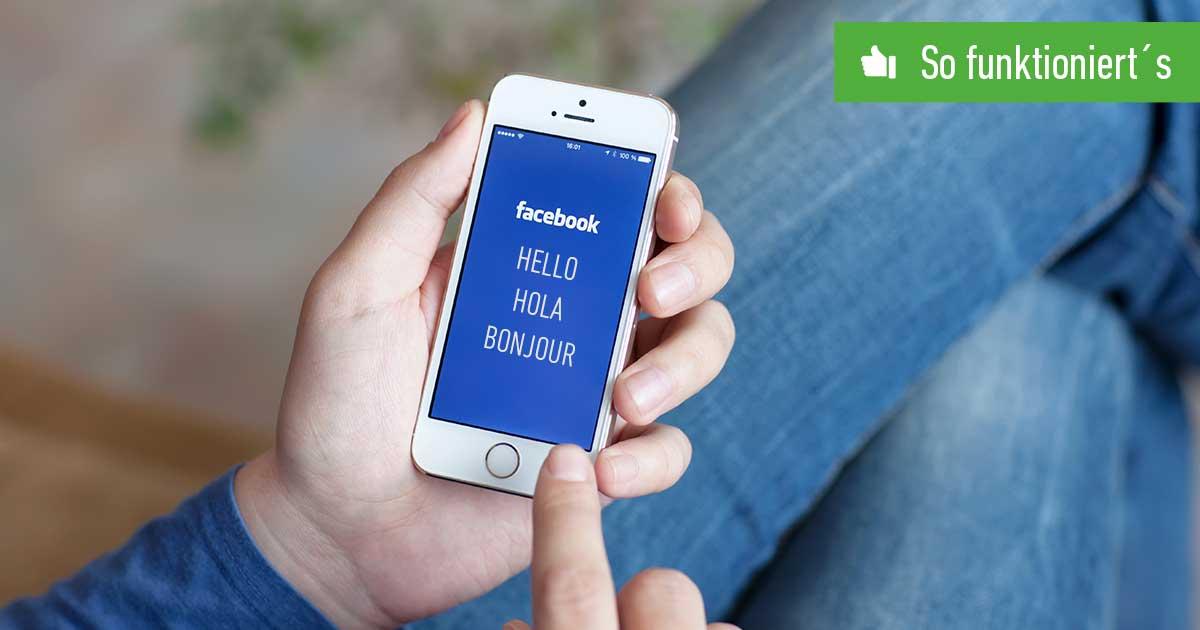 FB Sprache ändern Header