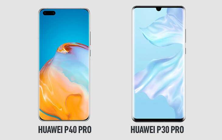 Huawei P40 Pro und Huawei P30 Pro Front