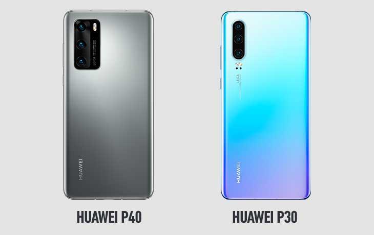 Huawei P40 und Huawei P30 Rückseiten