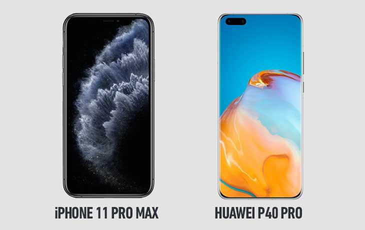 11 Pro Max vs P40 Pro vorn