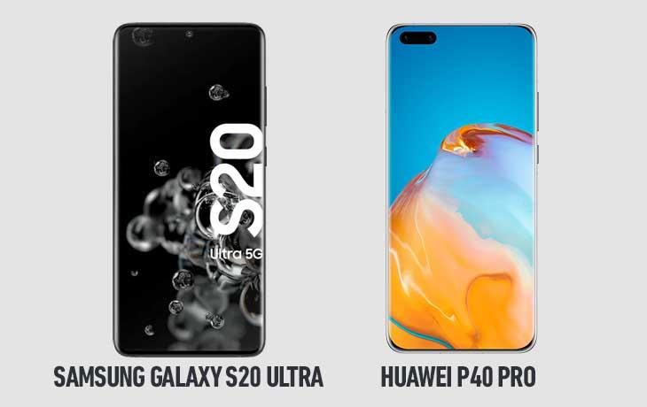 Huawei P40 Pro vs. Galaxy S20 Ultra 5G: Display