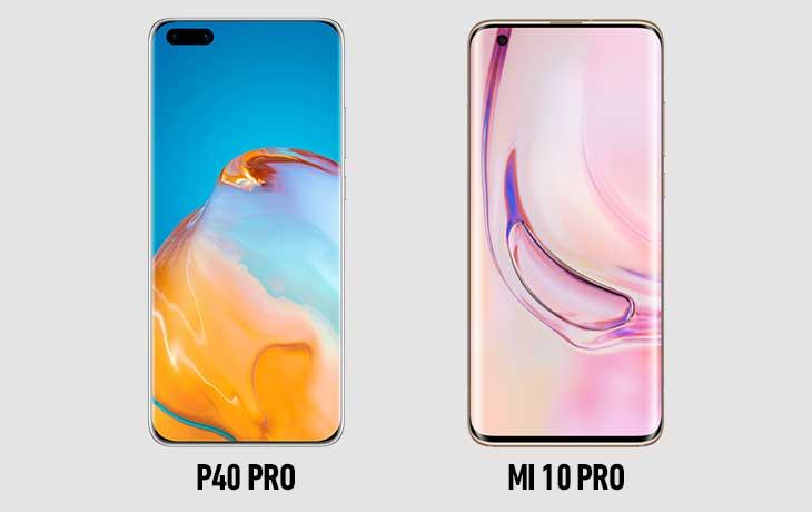 Xiaomi Mi 10 Pro vs. Huawei P40 Pro: Display