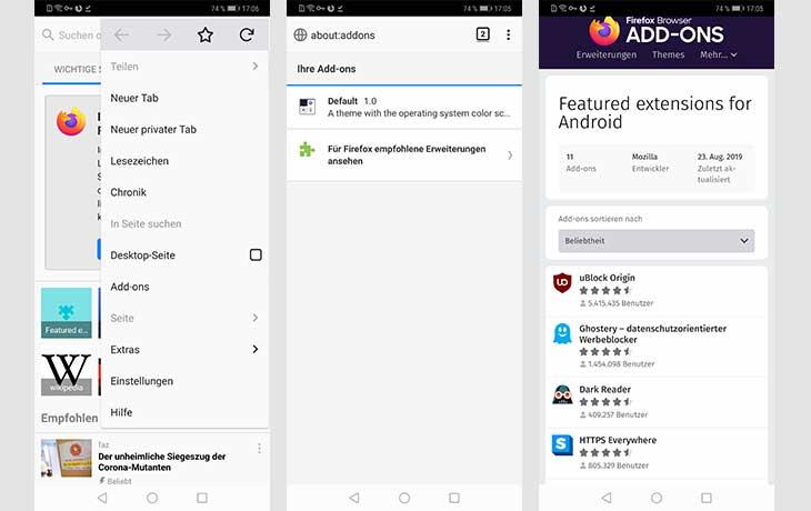 Adblocker für Android: Add-ons
