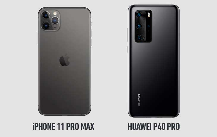 11 Pro Max vs P40 Pro hinten