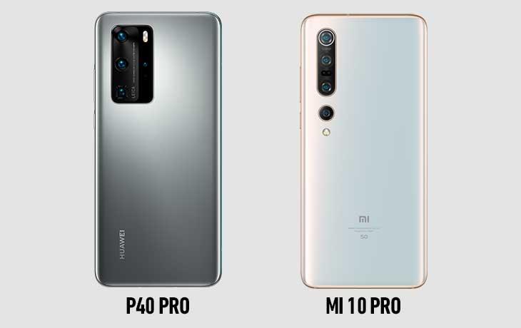 Xiaomi Mi 10 Pro vs. Huawei P40 Pro: Rückseite