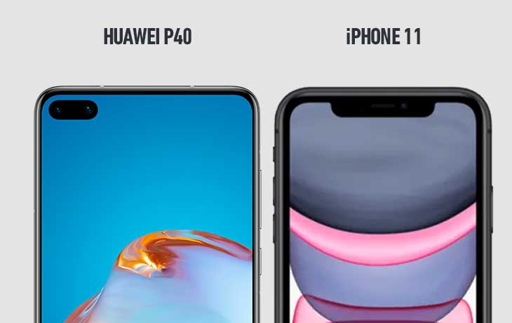 Huawei P40 vs. iPhone 11: Punch-Hole vs. Notch