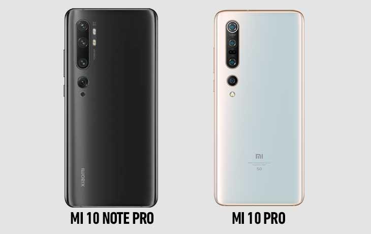 Mi 10 Pro vs Mi Note 10 Pro hinten