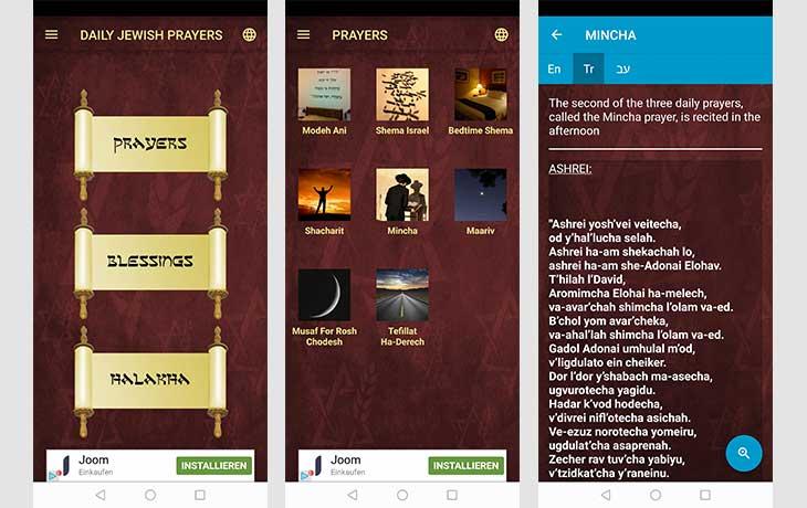 Daily Jewish Prayers – Die Jüdische App zum Beten