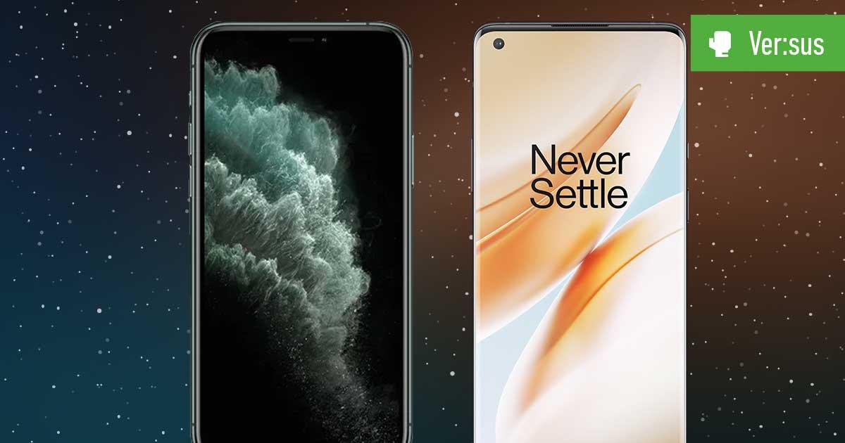 Header OP 8 Pro vs iPhone 11 Pro