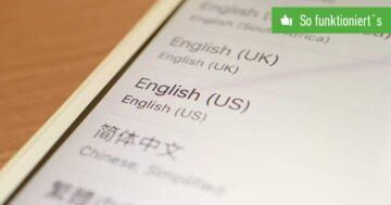 iPhone Sprache ändern – So funktioniert's