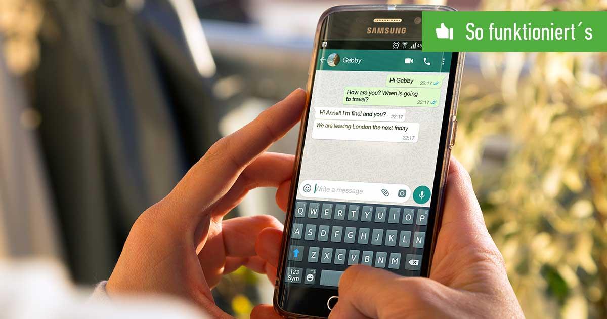 Header WhatsApp Schriftgröße