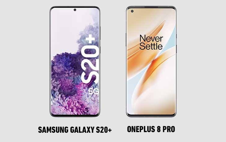 OP 8 Pro vs S20+ vorn