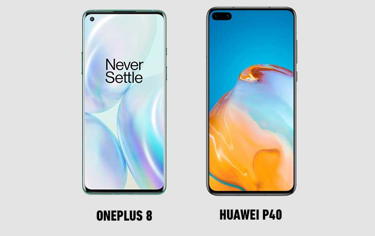 OnePlus 8 vs. Huawei P40: Display