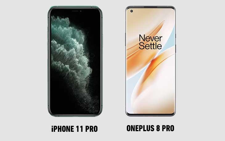 OP 8 Pro vs iPhone 11 Pro vorn