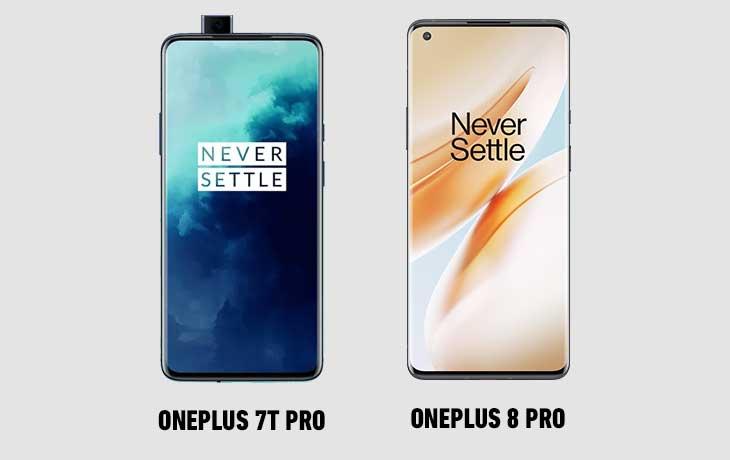 OnePlus 8 Pro vs. OnePlus 7T Pro: Display