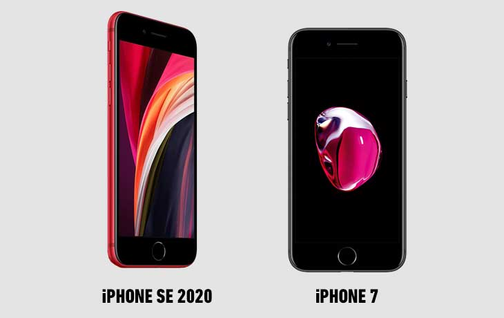 iPhone SE vs. iPhone 7 vorn