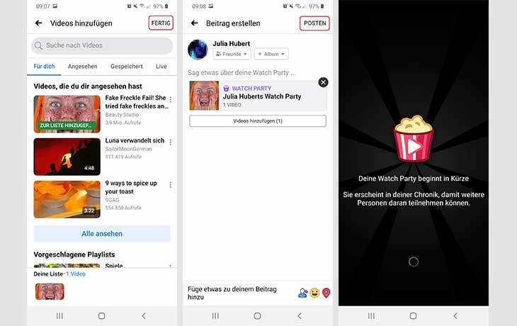 FB Watch Party erstellen 2