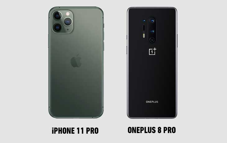 OP 8 Pro vs iPhone 11 Pro hinten