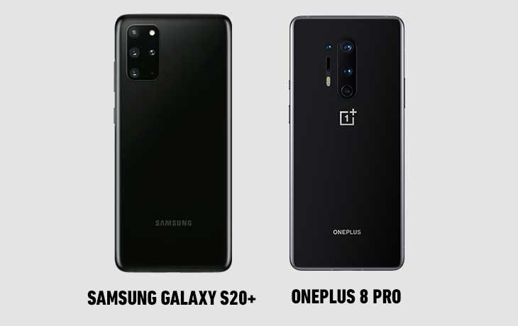 OP 8 Pro vs S20+ hinten