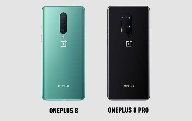 OnePlus 8 und OnePlus 8 Pro Rückseiten