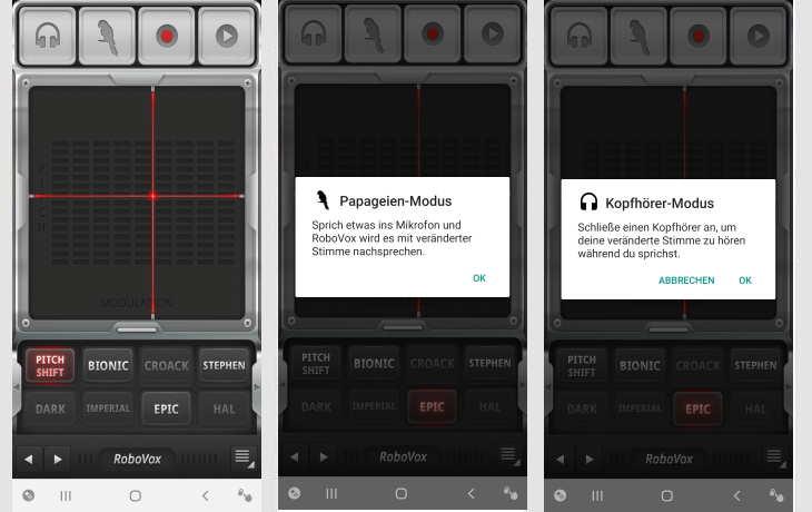 Verändern app beim telefonieren stimme Telefon verzerrte