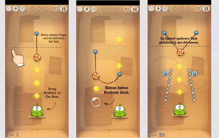 Rätsel-App Cut the rope