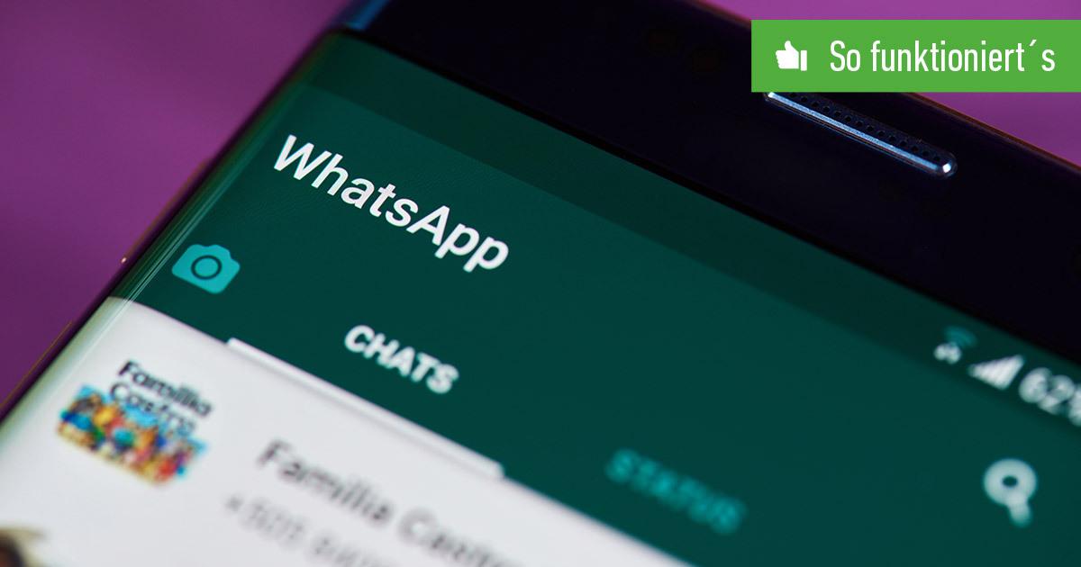 Header WhatsApp Gruppe erstellen