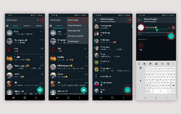 WhatsApp Gruppe erstellen