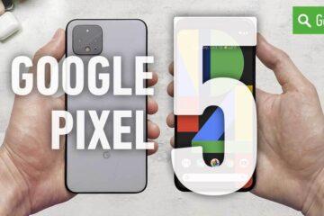 Header Google Pixel 5