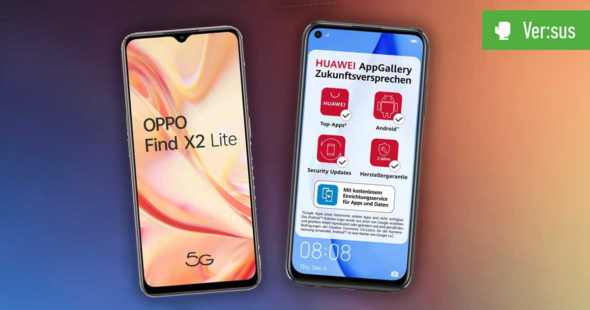 Header Find X2 Lite vs P40 Lite