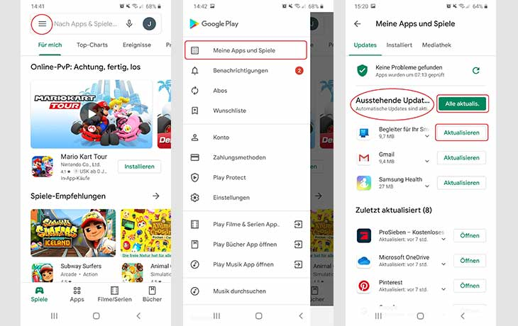 Apps aktualisieren Android