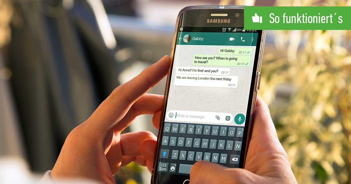 WhatsApp Autokorrektur ausschalten