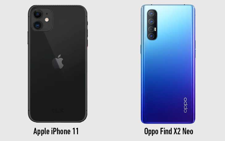 iPhone 11 vs. Oppo Find X2 Neo