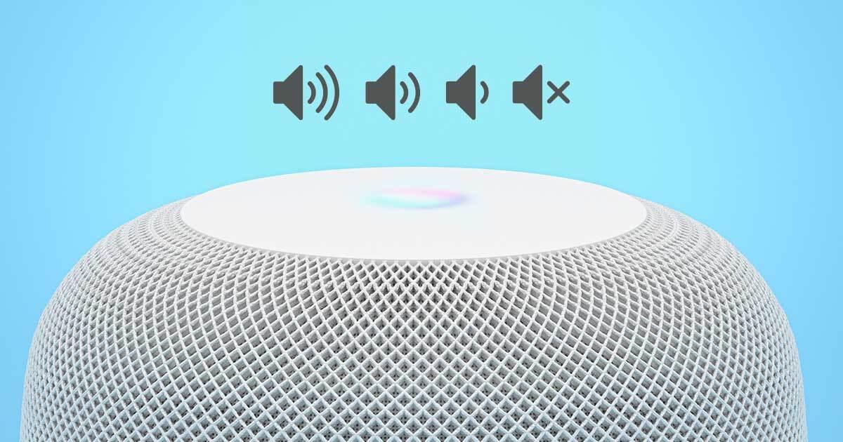 Apple HomePod Lautstärke anpassen