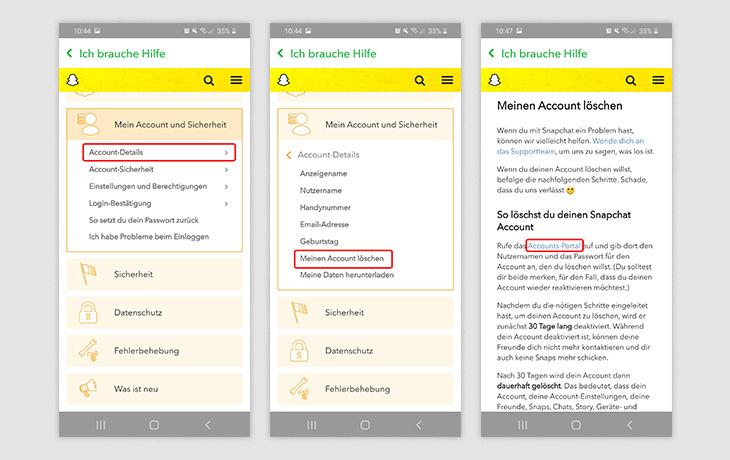Snapchat löschen App 2