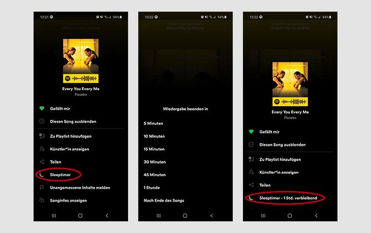 Spotify Sleep Timer Screenshots